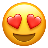 Emoji Heart Eyes • Apple style
