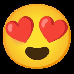 Emoji Heart Eyes • Google style