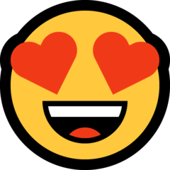 Emoji Heart Eyes • Microsoft style